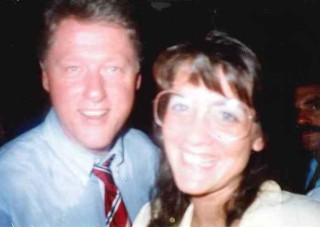 Donna and President Clinton