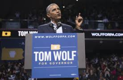 President Obama speaking at Tom Wolf event