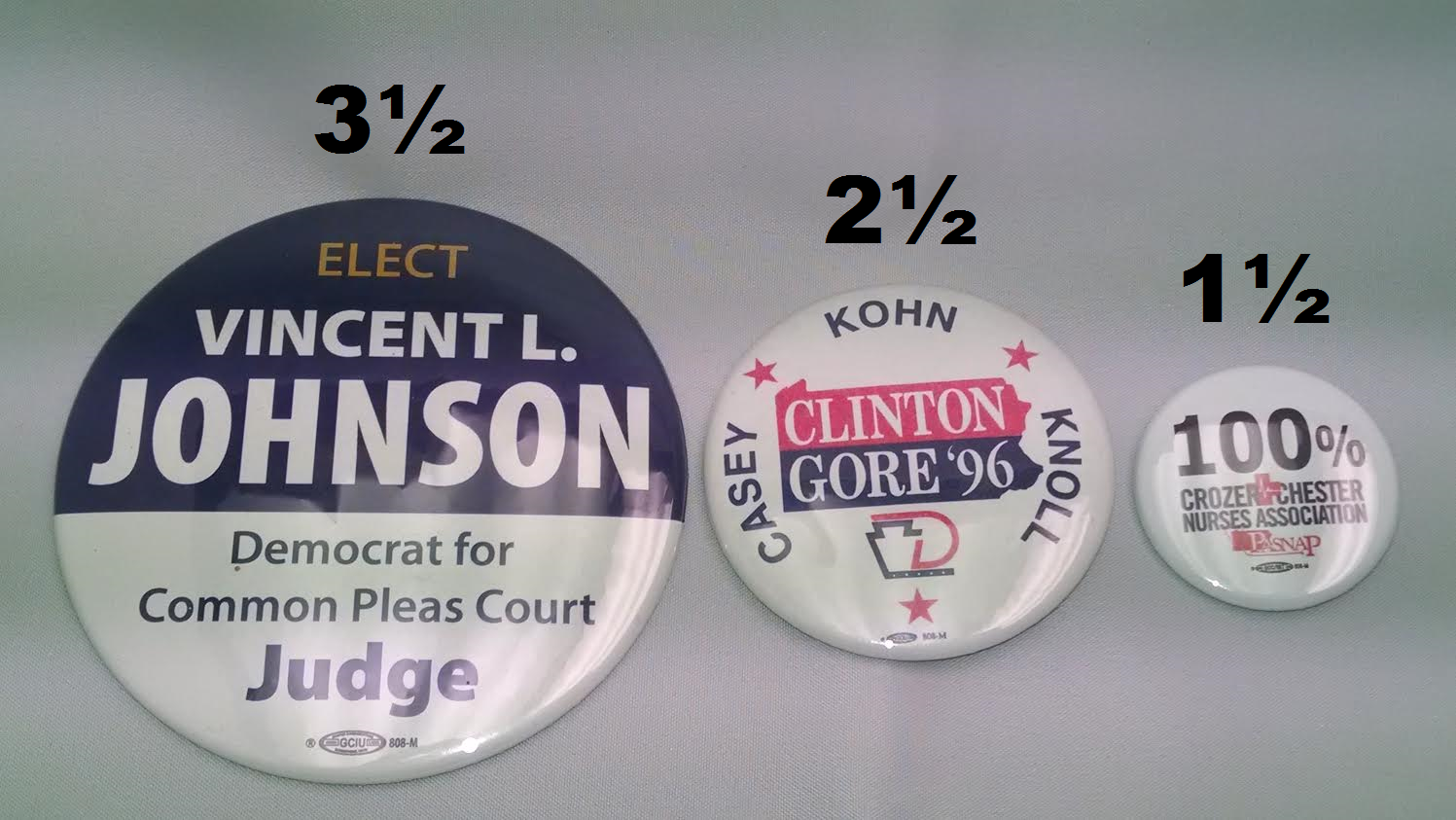 Campaign Button Sizes