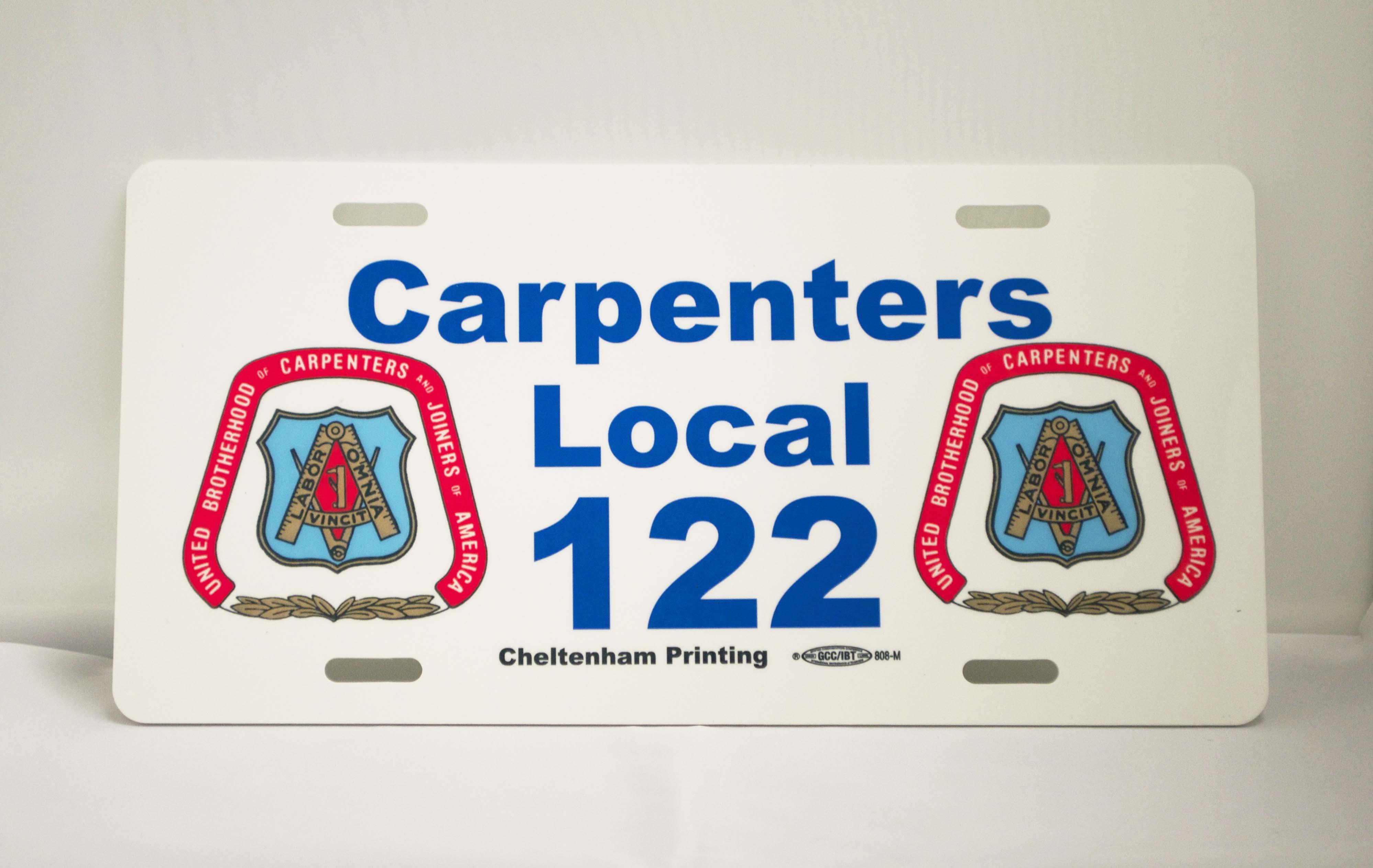 printed license plate